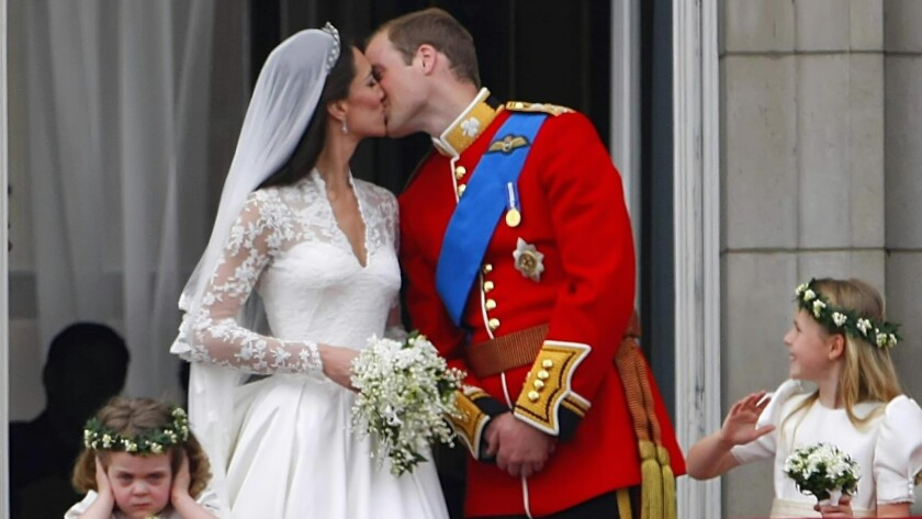 Prince William and Kate Middleton after their wedding in 2011.