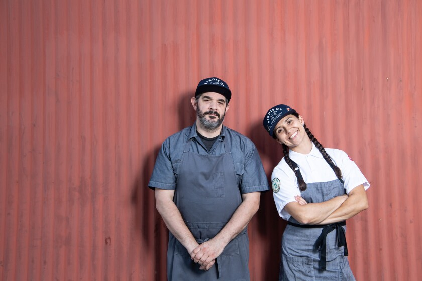 Birdie G's chef and co-owner Jeremy Fox and chef de cuisine Brittany Cassidy