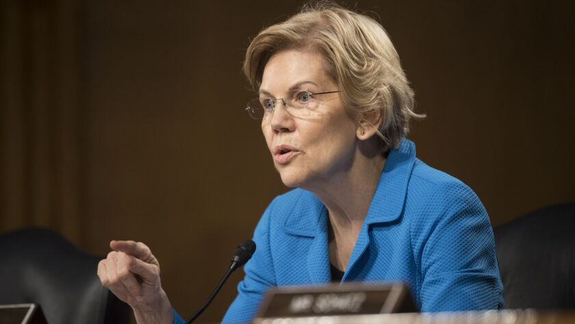 Sen. Elizabeth Warren, D-Mass., questions Federal Reserve Chairman Jerome Powell during hearing of t