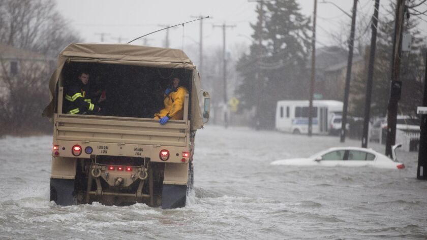 Large Coastal Storm Brings High Waters And Strong Winds To Northeastern Seaboard