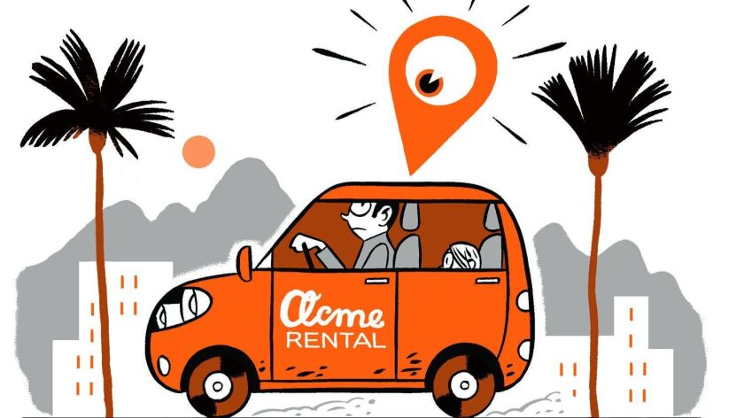 On the spot item on car rental agencies keeping track of your rental.