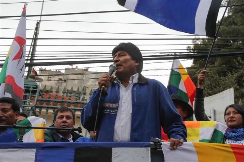 El presidente de Bolivia, Evo Morales (c). EFE/Archivo