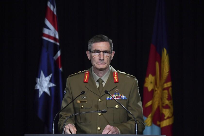 El jefe de las Fuerzas de Defensa de Australia, Angus Campbell da a conocer los hallazgos