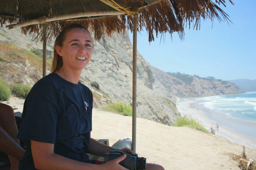 24-year-old Kelsie Gleason gets 'very focused' when watching the water.