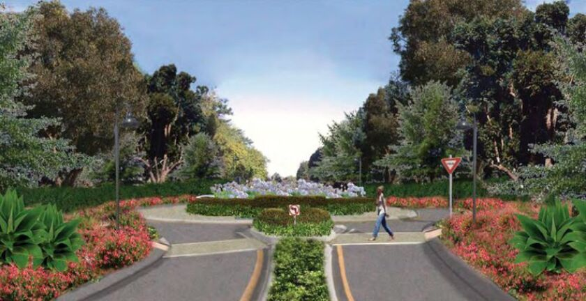 A rendering of a proposed roundabout at La Valle Plateada.