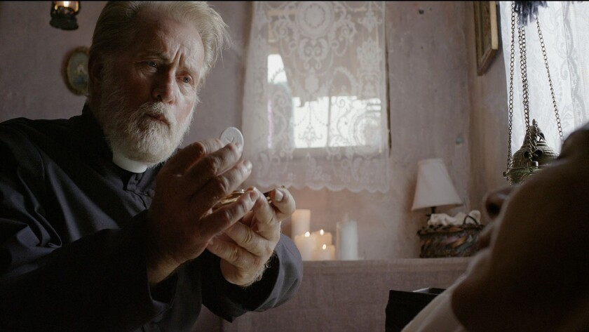 """Martin Sheen plays a kindly priest in """"The Vessel."""""""