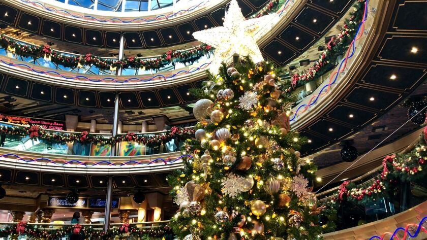 Cruise lines deck the decks for the holidays: Carnival ...