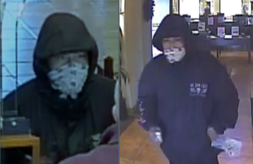 The FBI and La Mesa police asked the public to help identify a man suspected in a bank robbery.
