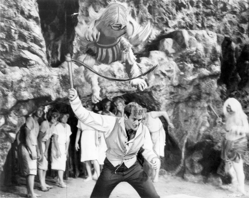 """Actor Rod Taylor in his Hollywood starring debut, the 1960 film """"The Time Machine"""" directed by George Pal."""