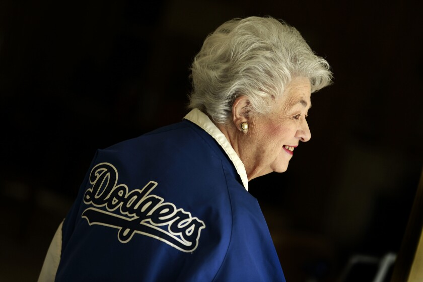 Roz Wyman helped bring the then-Brooklyn Dodgers to their current home at Chavez Ravine almost 60 years ago.