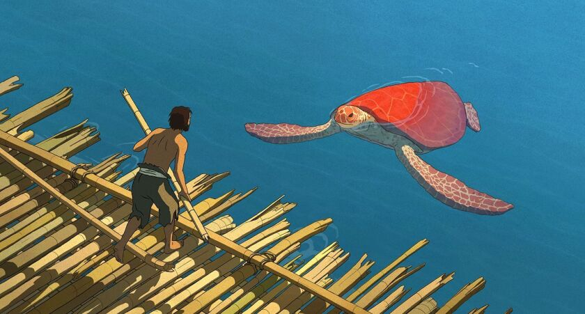 """A still from the Dutch animator Michael Dudok de Wit's film """"The Red Turtle."""""""