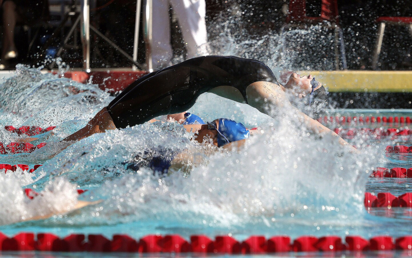 Photo Gallery: Dual Pacific League swim meet between Burroughs and Burbank