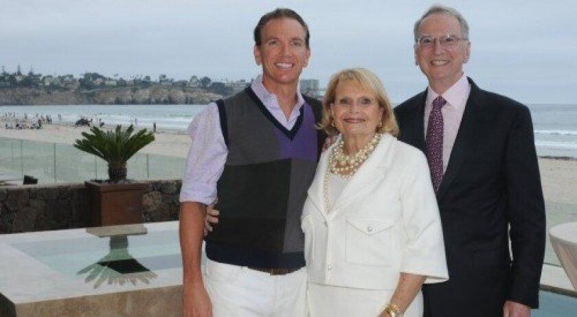 Jeff Jacobs, Joan and Irwin Jacobs (Photo: Rob McKenzie)