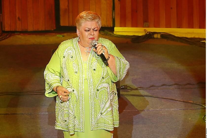 Paquita la del Barrio recibirá un homenaje a su trayectória artística.