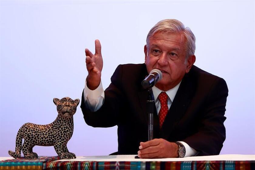 El presidente electo, Andrés Manuel López Obrador, durante una conferencia de prensa. EFE/Archivo