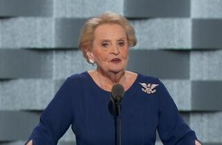 Watch Madeleine Albright talk about Trump's 'dark vision of America' at the Democratic National Convention