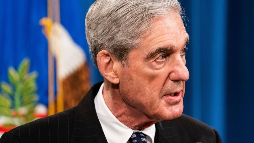 Special counsel Robert S. Mueller III speaks to the media about the results of the Russia investigation at the Justice Department.