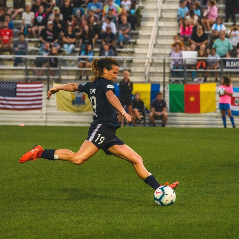 Newport Harbor High graduate Elizabeth Eddy is a professional soccer player who most recently played in Sweden.