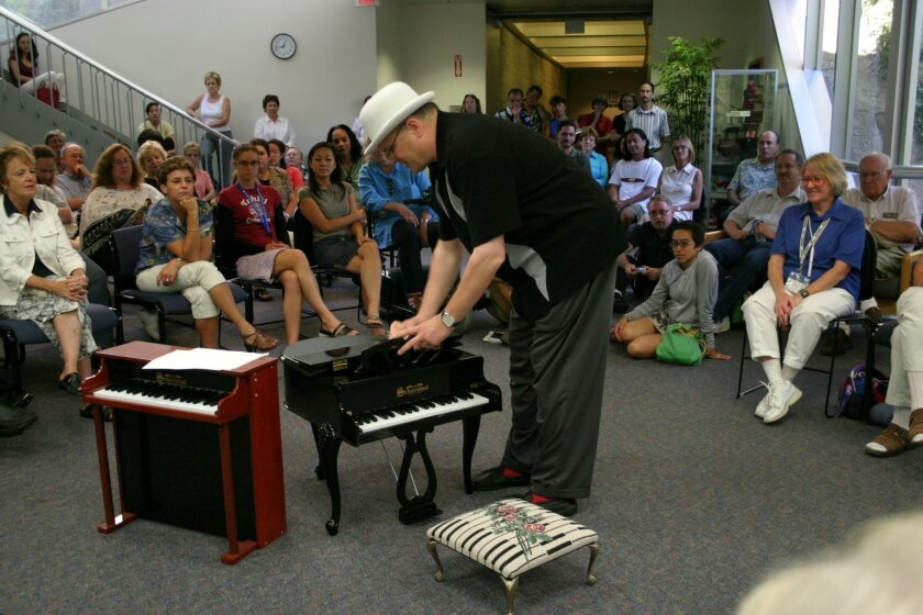 Scott Paulson at a previous Toy Piano Festival.
