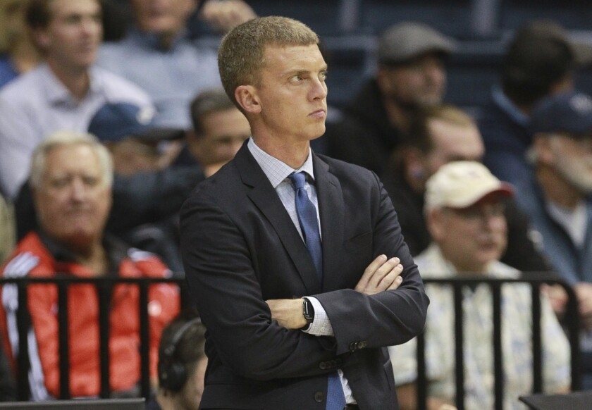 USD coach Sam Scholl (shown in an earlier game) says the Toreros must get the ball inside more often.
