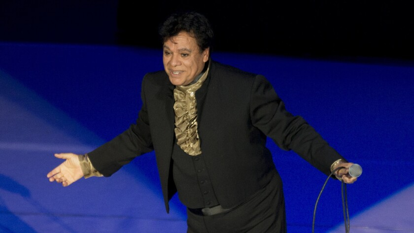 Mexican singer Juan Gabriel performs in April 2015 at the National Auditorium in Mexico City.