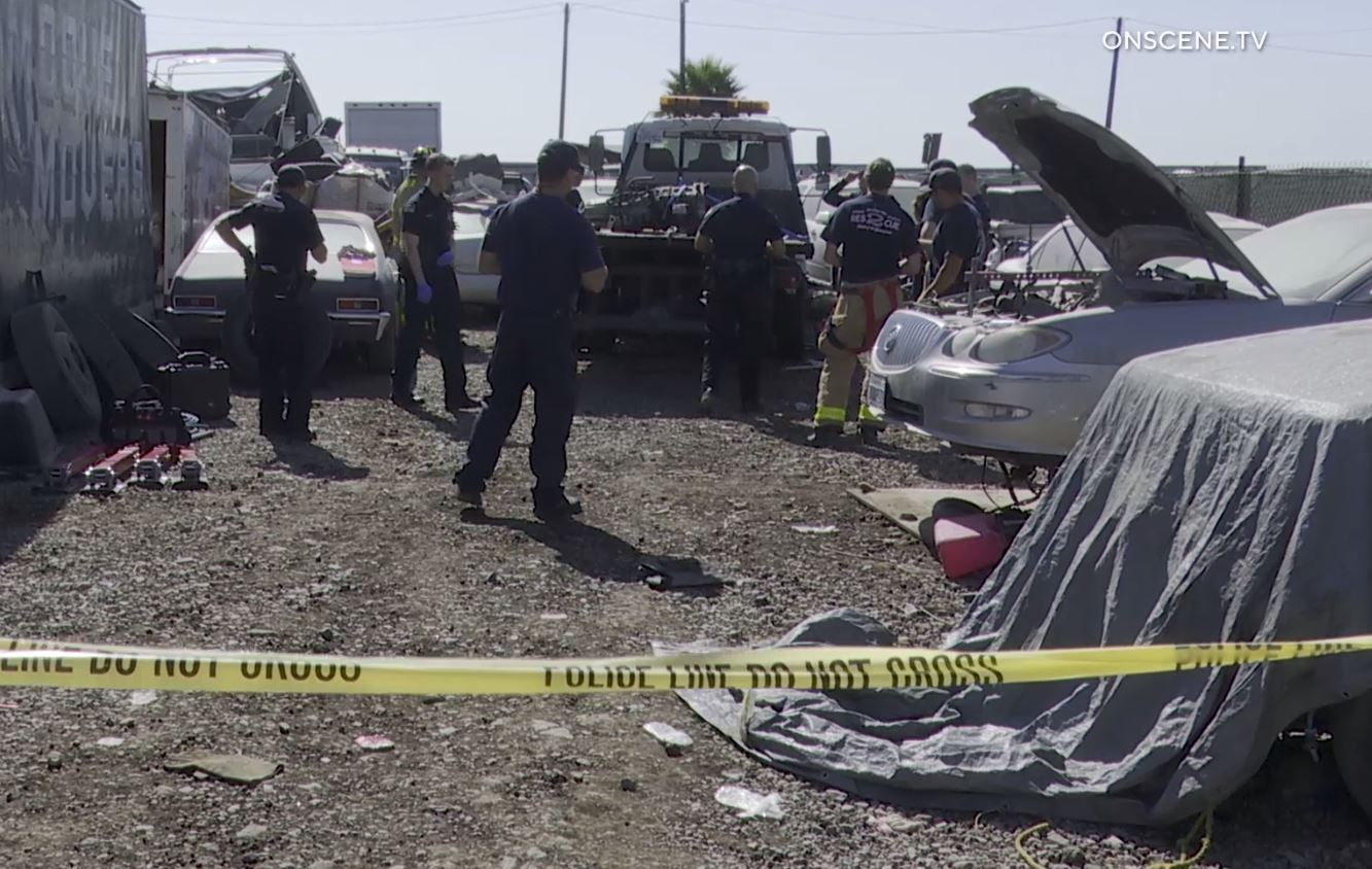 Man dies after getting trapped between tow truck's frame and flatbed at Otay Mesa auto yard