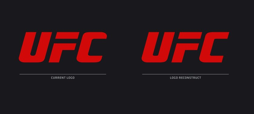 This undated image proivided by UFC shows the organization's current logo, left, and its new one, right. The change is almost imperceptible, but look closely: The C no longer looks like a wrench. It's more fluid, more balanced, more professional, from their designers' point of view. The Reebok figh