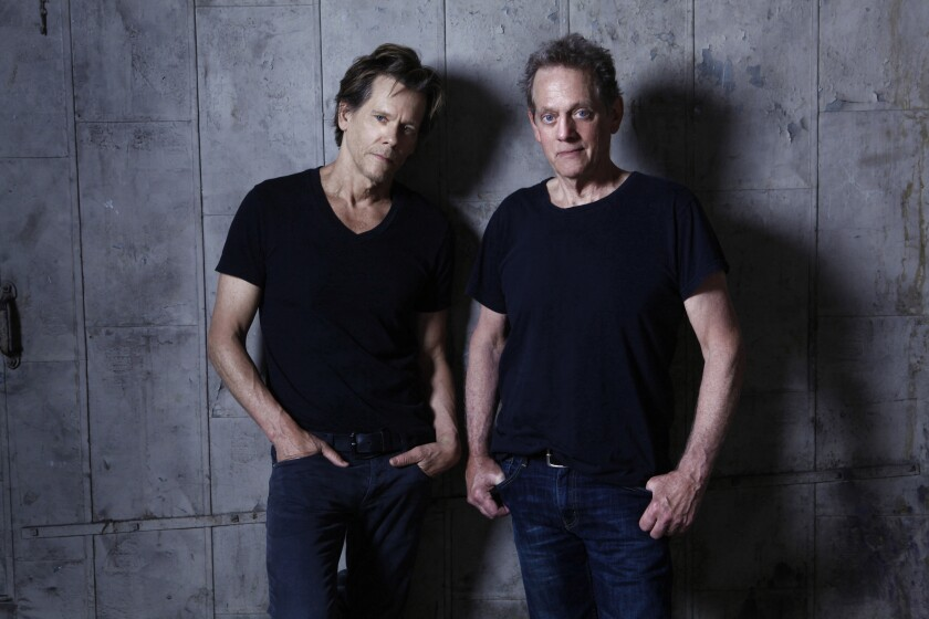 Kevin Bacon (left) and his brother, Michael, have been making music together as the Bacon Brothers since 1995. Their eighth album was released last year.