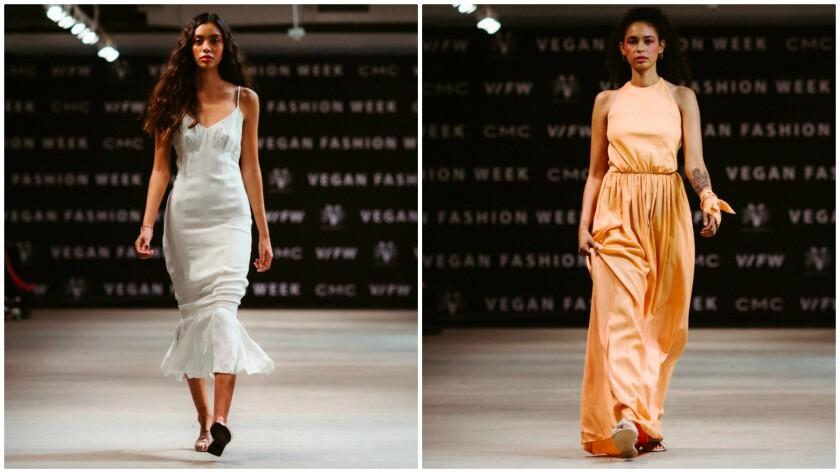 Enda looks from from Vegan Fashion Week