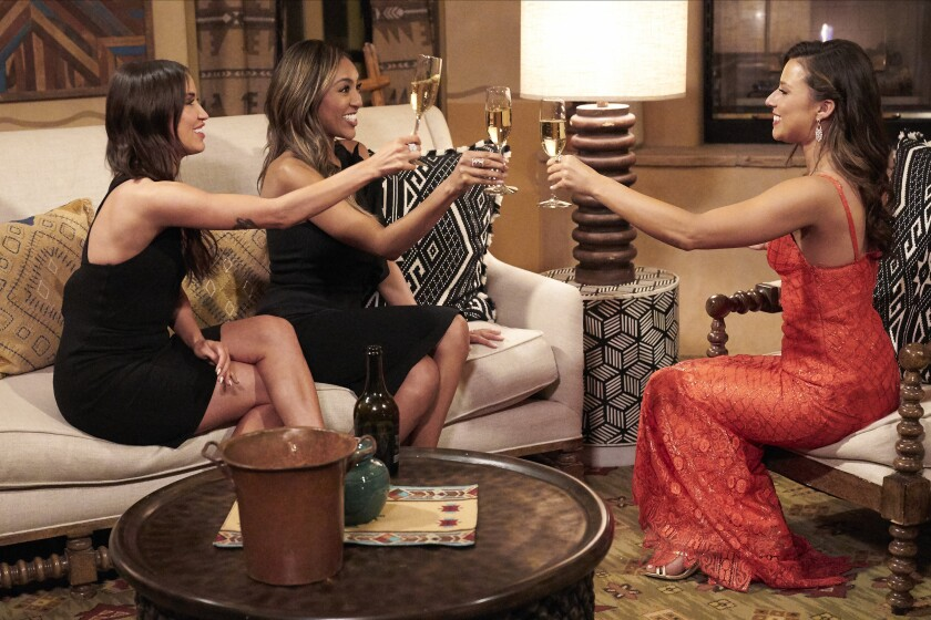 Kaitlyn Bristowe, Tayshia Adams toast with 'Bachelorette' Katie Thurston
