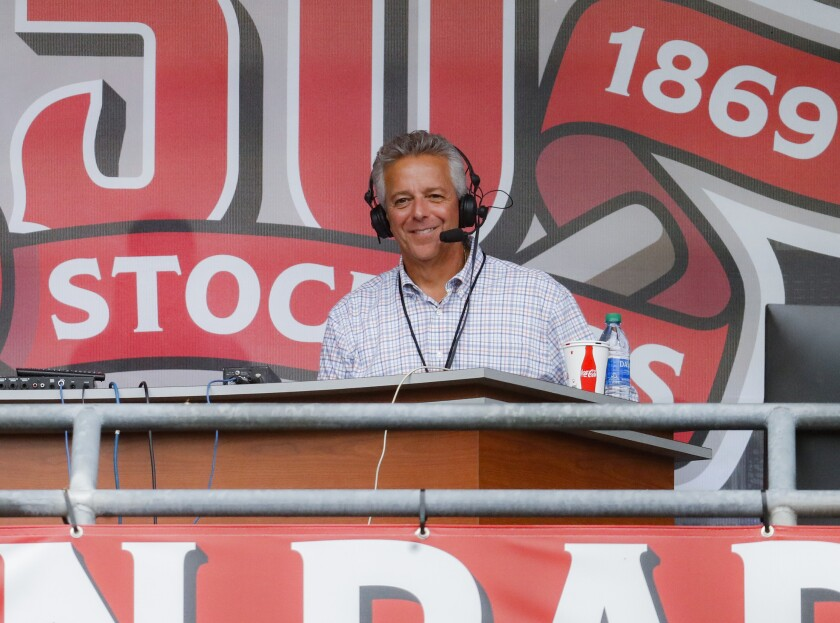 Thom Brennaman was suspended by the Cincinnati Reds after he used an anti-gay slur during a live broadcast Wednesday.