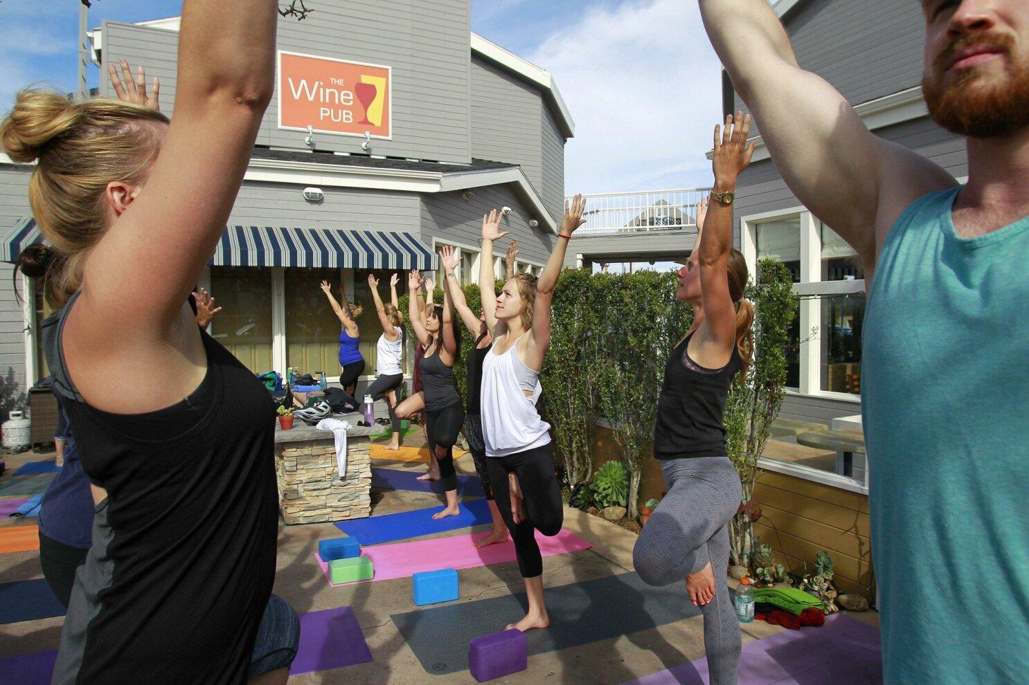 Wine Yoga Classes Come To San Diego The San Diego Union Tribune