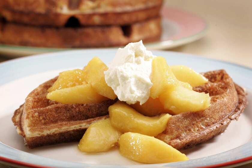 Yeast-raised waffles.