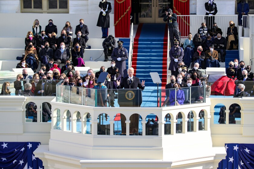 Op-Ed: Biden gave the inauguration speech America needed - Los Angeles Times