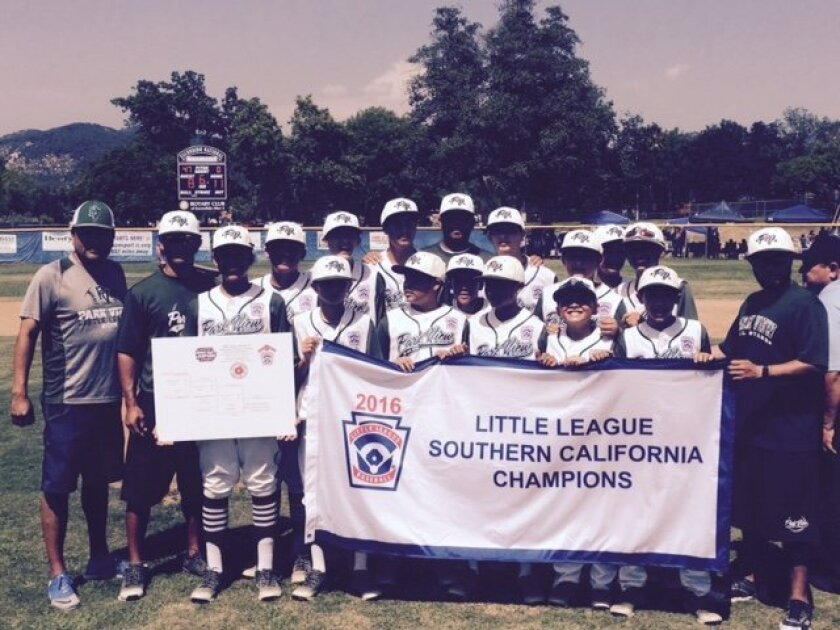 The Park View Little League team won the Southern California Championship on Sunday.