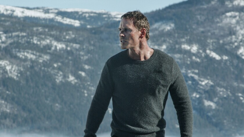 """Michael Fassbender in the movie """"The Snowman."""""""