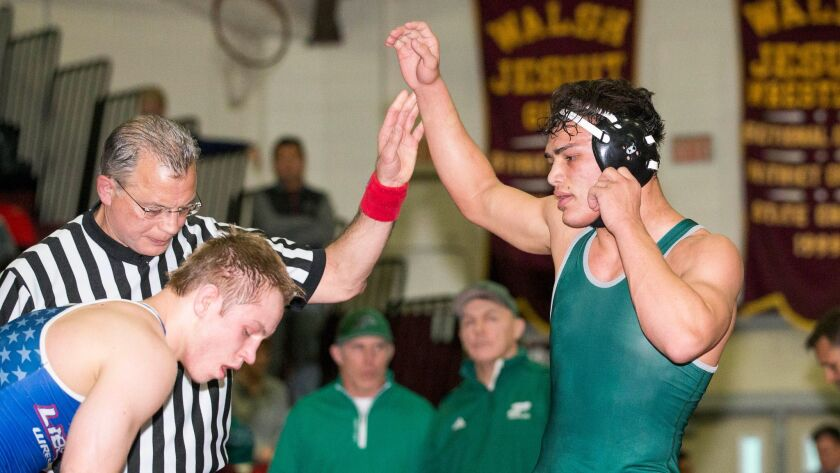 Poway's Quentin Hovis (far right) won a state title for the fourth straight year.