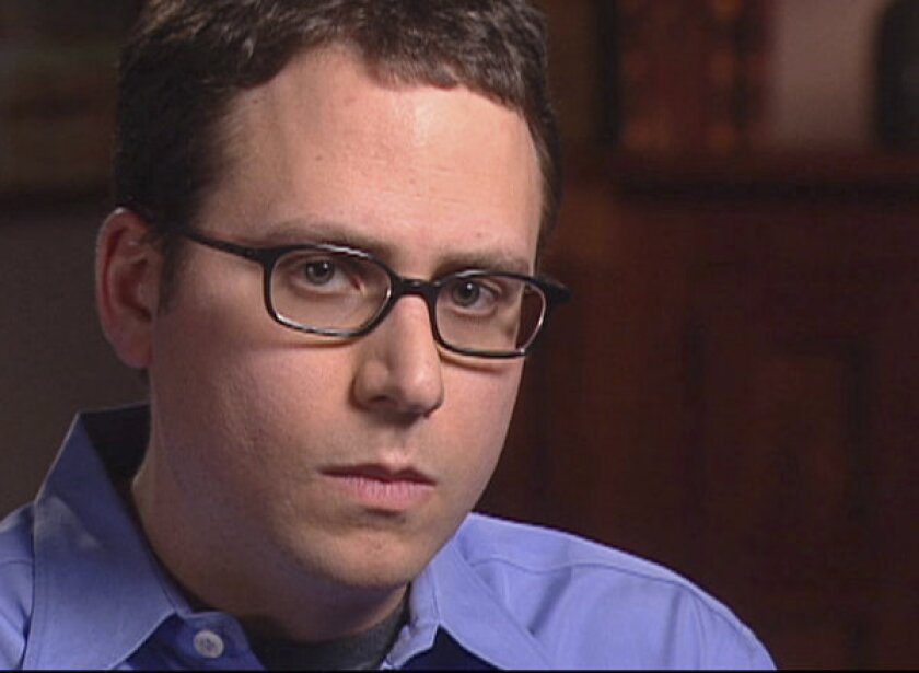 The California Supreme Court on Monday denied Stephen Glass, shown in 2003, permission to practice law. In the 1990s, he was found to have fabricated a number of articles for national magazines.