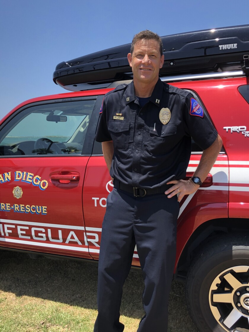Now-retired San Diego lifeguard John Sandmeyer guarded La Jolla Shores from 1998 to 2013 as part of his 38 years' experience.