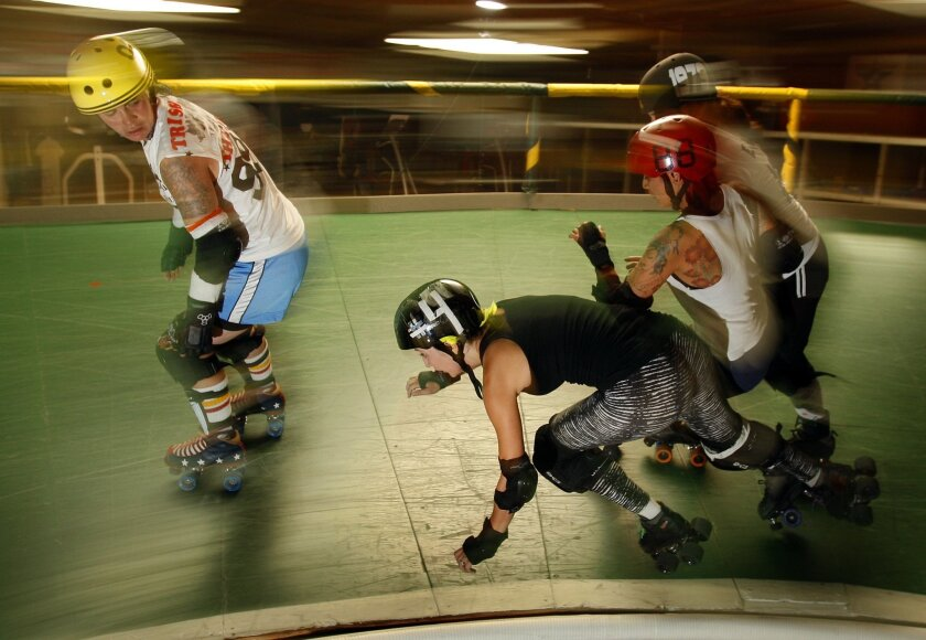 The Derby Dolls take on the Rocky Mountain Rollergirls of Colorado on Saturday, March, 26.