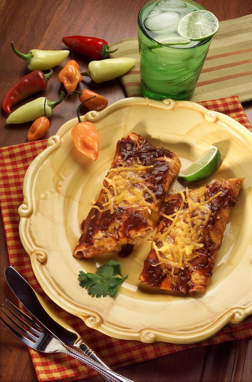 A simple recipe for classic red enchiladas.