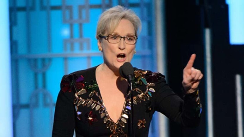 Meryl Streep made headlines at the 2017 Golden Globes with pointed commentary about Donald Trump.