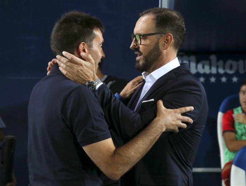 Los entrenadores Asier Garitano (i) y José Bordalás, en una imagen de archivo. EFE/Archivo