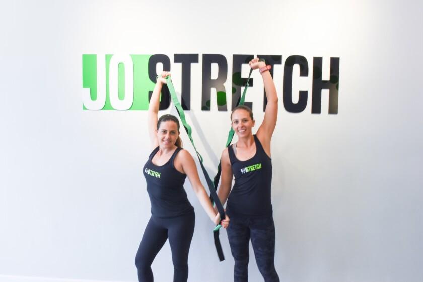 Joan Balas (left) and Talia Rozen co-founded Jo Stretch in La Jolla.