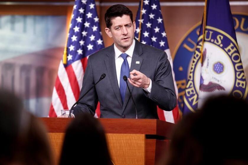 El presidente de la Cámara de Representantes Paul Ryan. EFE/Archivo