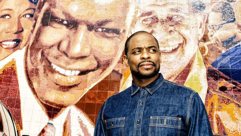 Dulé Hill, photographed in front of a mural outside the Capitol Records building in Hollywood, plays Nat King Cole in the Geffen Playhouse's upcoming production.