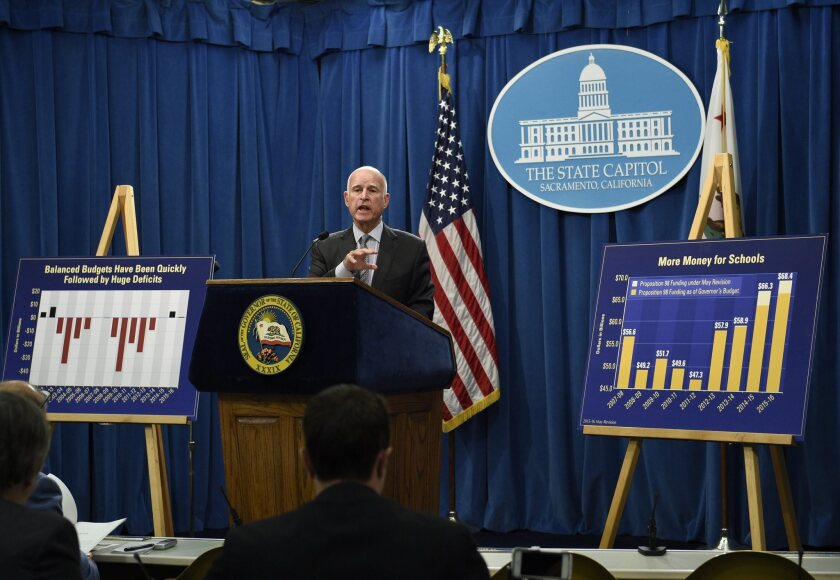 Jerry Brown's proposed 2015-16 California budget