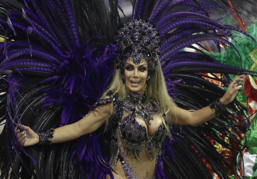 APTOPIX Brazil Transgender Carnival Godmother