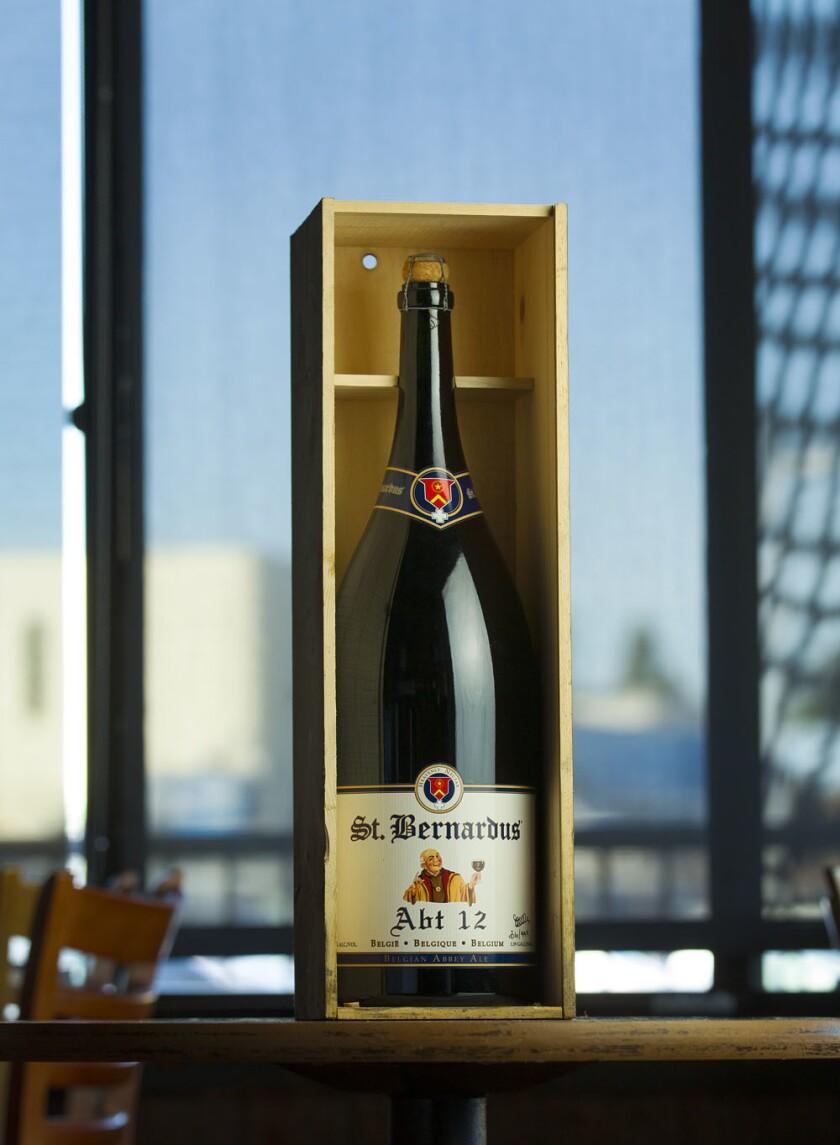 6 liter bottle of St. Bernardus 12, retails for $225 at O'Brien's Pub in Kearney Mesa. (K.C. Alfred/U-T)