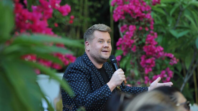 """Host James Corden called the annual CFDA/Vogue Fashion Fund show """"the Super Bowl for people who don't watch the Super Bowl."""""""